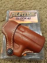 Hunter pro-hide Funda Para Glock 42 CUERO encubrimiento OPEN TOP Fitted ... - $55.09