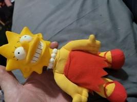 "Lisa Simpson 8"" Doll The Simpsons 1990 Burger King Cartoon Plush Figure D2 - $14.85"