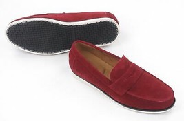 New Alfani Red Suede Slip On Driver Mocc ASIN S Sawyer Loafers Shoes 11 - $24.74