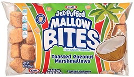 Jet-Puffed Mallow Bites Toasted Coconut Flavored Marshmallows, 8 oz Bag