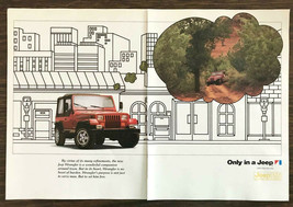 1987 Jeep Wrangler Two-Page Print Ad Jeep Daydreaming of Off Roading - $11.01