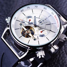 Tourbillion Automatic Mechanical Mens Watches Luxury Shark Sport Day Rub... - $69.34