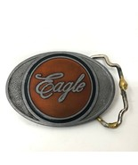 VTG Orange Eagle Script Oval Belt Buckle K Brand  - $34.64