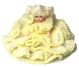 Vintage Rare Fibre-craft materials Corp Doll crochet dress Air Freshener... - $59.82