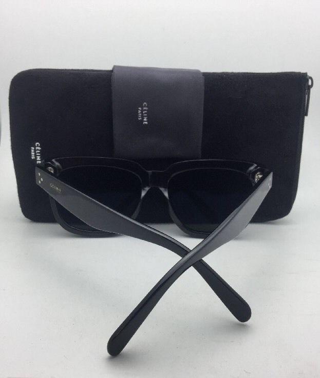 fd4fffae15fff1 New CELINE Sunglasses CL 41372 S 807 1E 45-25 145 Black Frame w  Grey Green  Lens -  199.99