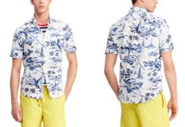 $98 Polo Ralph Lauren Marlin Print Oxford Sport Shirt, Blue, XLT - $59.39
