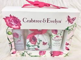 Crabtree & Evelyn Rosewater Gift Set Bath & Shower Gel Body Lotion Sache... - $551,07 MXN