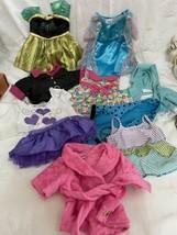 Build A Bear BaB outfit Disney Frozen Anna HTF Coronation Elsa Dress hoodies lot - $39.55
