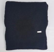 Ryan Seacrest Distinction Men's Waffle Knit Scarf Black One Size - $10.99