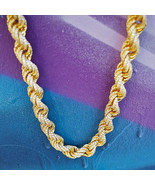 Men's 14k Gold Rope Chain With Diamonds - £151.59 GBP+
