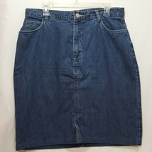 Jean Skirt Blue Size 14 St John's Bay Women Denim - $23.89