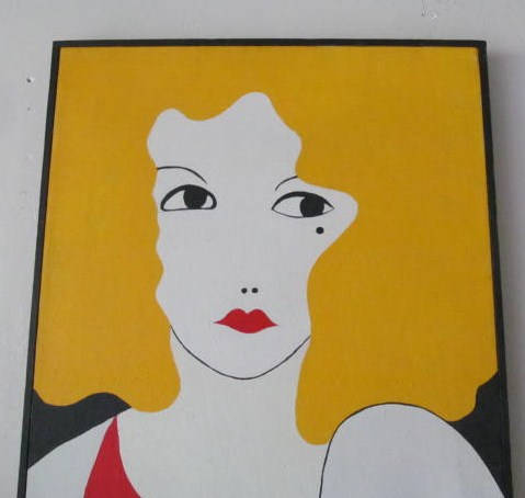 "Rare 1970 ""Lady of The Thirties"" Signed Jill Halliburton Original Art Painting"