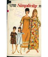 Simplicity 6792 Misses Muu-Muu in Two Lengths Size 14-16 cut  - $5.50