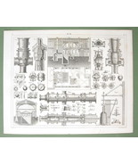 CANONS Casting Projectiles Molds - 1844 Original Steel Engraving - $18.90