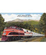 Rocky Mountain Rocket Rock Island Streamliner Railroad Train linen postcard - $6.43