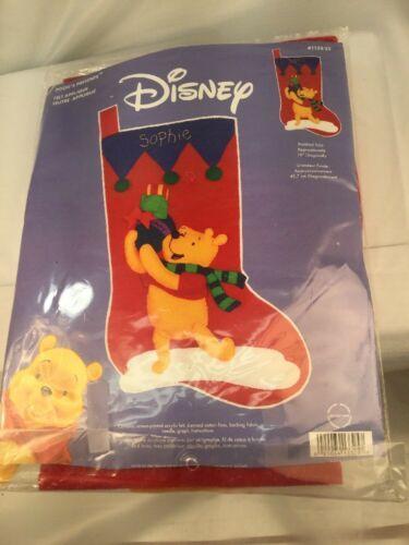 "Disney Winnie The Pooh ""Pooh's Presents"" Christmas Stocking Janlynn #1133-25"