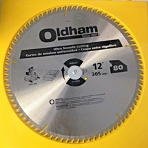 """Oldham 12080TP 12"""" x 80 Tooth ATB Trim & Finishing Saw Blade With 1"""" Arbor - $37.62"""