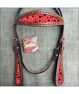 Hilason Western Horse Headstall Bridle American Leather Mahogany Black U... - $63.31