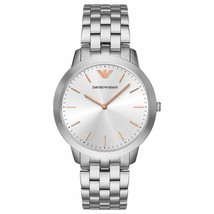 100% New Emporio Armani AR2484 Men's 41mm Case Watch Silver-Tone Stainle... - $144.95 CAD