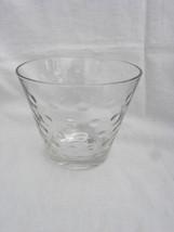 Vintage Retro Hazel Atlas Clear Glass Bubble Dot Ice Bucket or Bowl - $5.99