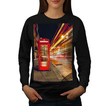 Red Telephone Box Jumper London Symbol Women Sweatshirt - $18.99