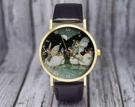 Vintage Fairies Watch | Classic Style | Leather Watch | Ladies Watch | W... - $20.00