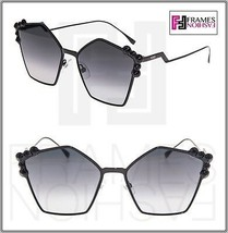 FENDI CAN EYE FF0261S Shiny Black Stud Gradient Flat Metal Sunglasses 02... - $197.01