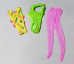 Barbie Clothes Clothing Retro Neon Printed Leotards Dance Swim & Tights - $14.87