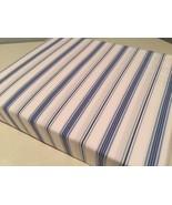 Ralph Lauren Dorsey Jobs Lane Stripe Blue/White Fitted Sheet King - $120.00