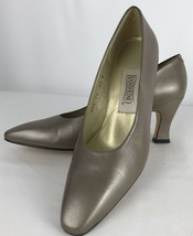 BANDOLINO Champaign Metallic Leather Classic Pumps Women's Size 8.5N - $39.59