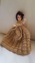 "8"" Vintage Doll with beautiful Dress table decoration pre-owned pretty b... - $18.52"