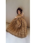 """8"""" Vintage Doll with beautiful Dress table decoration pre-owned pretty b... - $18.52"""