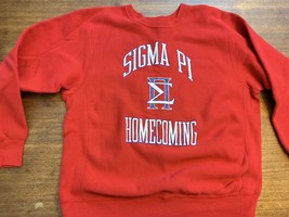 VTG Cross Grain Reverse Weave sweatshirt SIGMA PI crew-neck size XL Mint... - $47.50