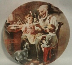 Vintage Norman Rockwell Bradford Exchange Plate 1977 1st Edition Toy Maker - $39.59