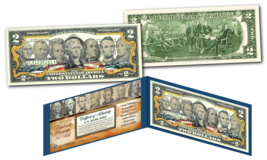U.S. BANKNOTE 7 PORTRAITS Genuine Legal Tender U.S. $2 Bill Banknote *Mu... - $13.81