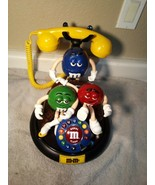 M&Ms  LANDLINE PHONE--TALKING / LIGHT UP----FREE SHIP--SUPER CUTE COLLEC... - $69.48