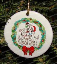 Disney Tis the Season, Dalmatians' Delight Ornament (Grolier) Porcelain ... - $14.85