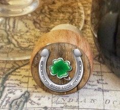 Wine Stopper, Good Luck Horseshoe Handmade Wood Bottle Stopper, St. Patr... - $8.86