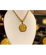 ATOCHA GOLD PENDANT NECKLACE CHAIN 2 ESCUDOS 24k SHIPWRECK TREASURE JEWE... - $799.00