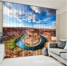3D Yellow River026 Blockout Photo Curtain Print Curtains Drapes Fabric W... - $145.49+