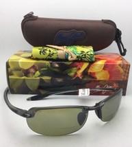 Maui Jim Sunglasses Makaha Reader + 2.0 Ht 805-11 20 Smoke Grey w/ Green Lenses - $229.00