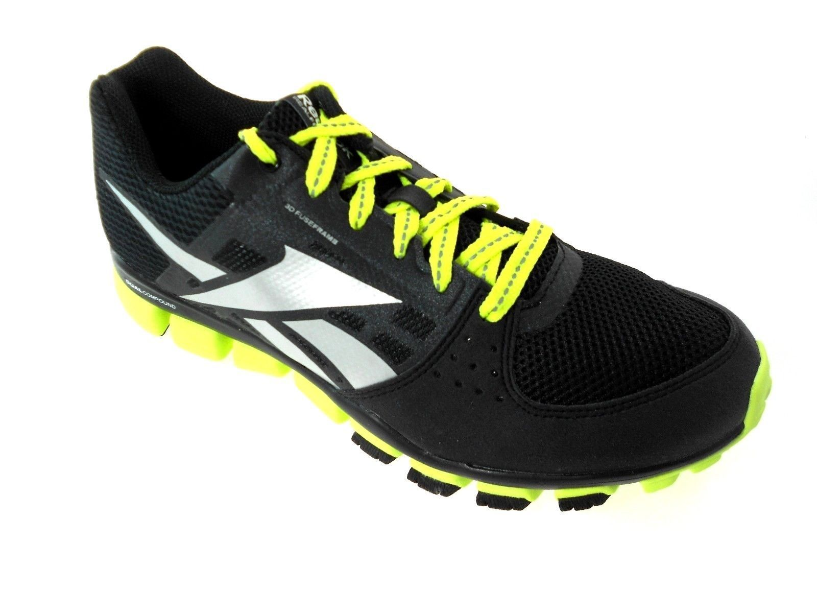 REEBOK TRANSITION 4.0 V47764 BLACK/YELLOW/SILVER RUNNING SHOES YOUTH SIZE 7Y - $37.49