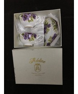 Adeline Handmade Fine Bone China 2 Cups & Sausers and 2 Spoons Made in I... - $40.00