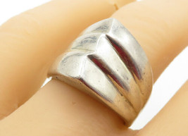 MEXICO 925 Silver - Vintage Shiny Pointed Dome Design Band Ring Sz 8 - R... - $30.94
