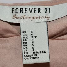 Forever 21 Contemporary Pink Hooded Satin Long Sleeve Top Hoodie Size S image 3