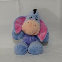 Disney Winnie the Pooh Eeyore Stuffed Plush Toy Blue Pink  image 3