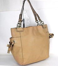 100% Authentic COACH Brown / Tan Leather Tote Shoulder Bag Hand Bag Purse - $69.29