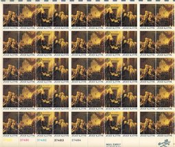 Declaration of Independence 50 x 13c Stamp Sheet  Scott 1691-4 - $11.09