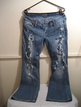 "SILVER JEANS ""TUESDAY"" womens distressed jeans size w34 L31 - $24.74"