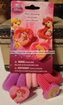 8pc Disney Princess Hair Accessory Belle+Aurora 2 Clips + 6 Ponios/Scrunchies - $2.95